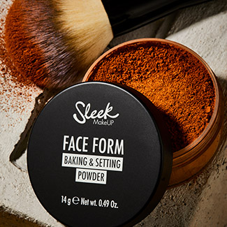 Sleek makeup face form baking and setting powder