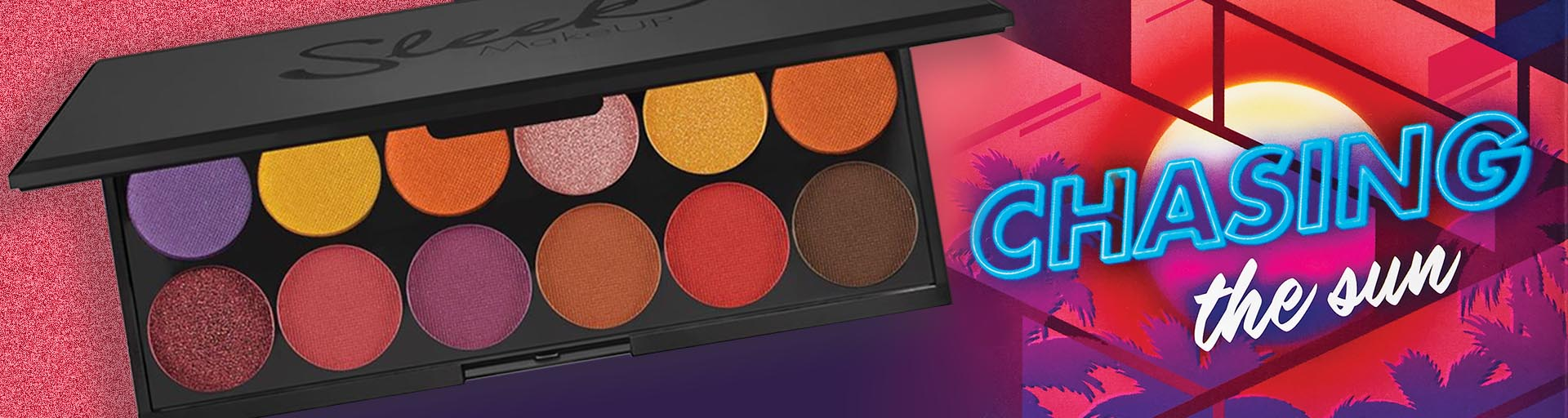 sleek makeup sunset vibes chasing the sun i divine eyeshadow palette