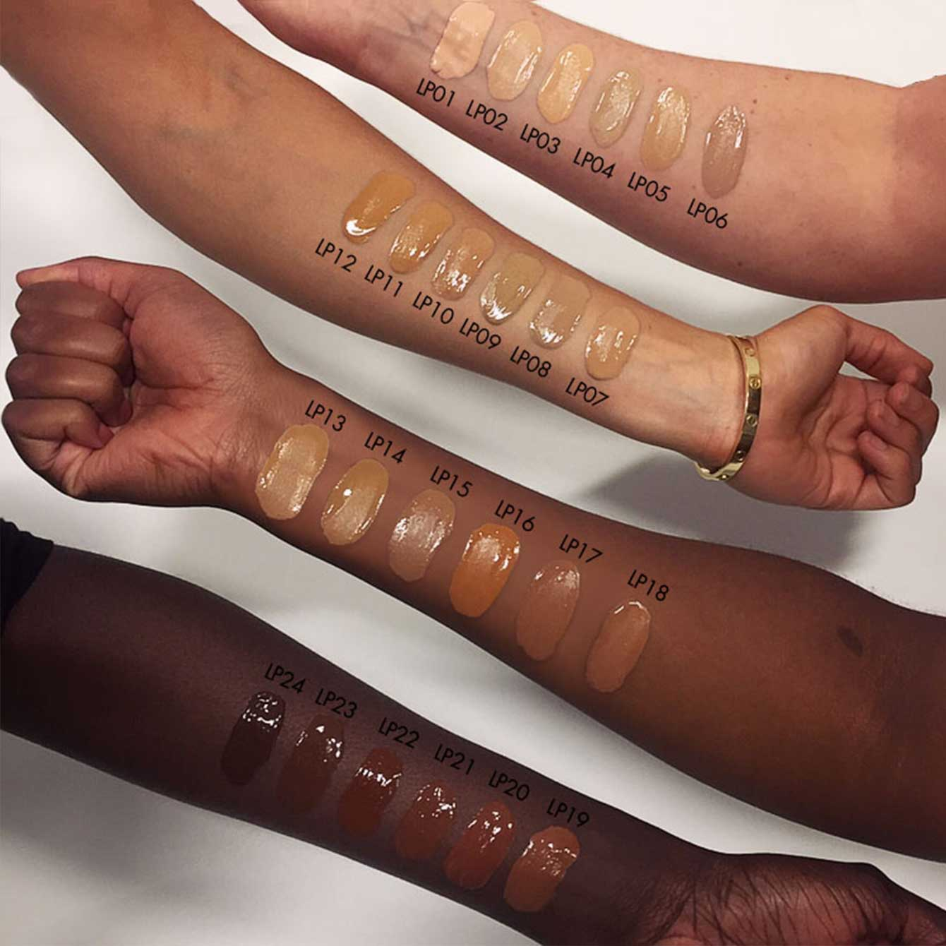 Lifeproof Sleek Makeup Shades On Skin